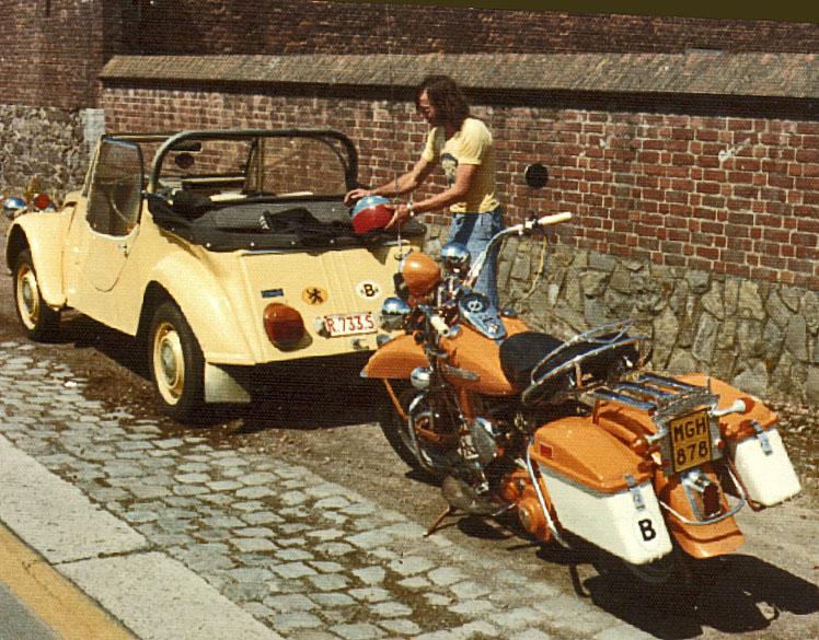 Harley Davidson met cabrio