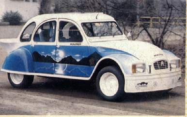 citroen 2cv racing duck